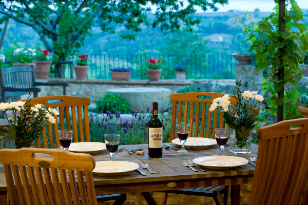 Settled In Tuscany Villa Tour Dining Terrace